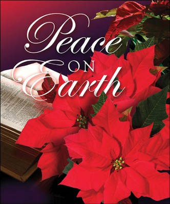 Peace on Earth, Christmas Poinsettia Bulletins, Large Size (Package of 50)  -