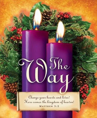 Advent Sunday 2 Purple Bulletins, Large Size (Package of 50)  -