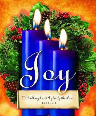 Advent Sunday 3 Blue Bulletins, Large Size (Package of 50)  -