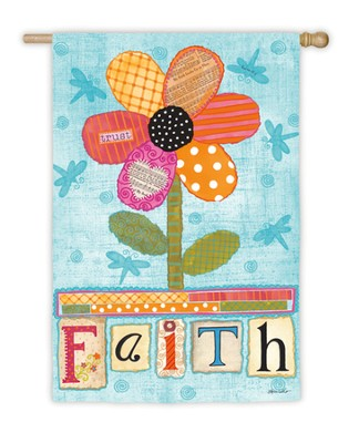 Faith Flower Flag, Large  -     By: Annie Lapoint