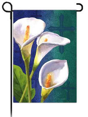 Easter Lily and Cross Flag, Small  -     By: David Sands