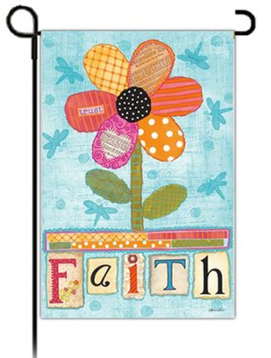 Faith Flower Flag, Small  -     By: Annie Lapoint