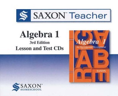 Saxon Teacher for Algebra 1, Third Edition on CD-ROM   -