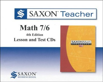 Saxon Teacher for Math 7/6, Fourth Edition on CD-Rom  - Slightly Imperfect  -
