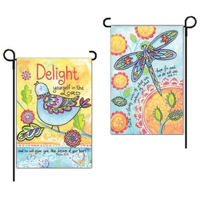 Delight Yourself In the Lord Flag, Small  -     By: Diane Arthurs