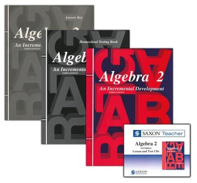 Saxon Algebra 2 Homeschool Kit & Saxon Teacher CD-ROMs, Third Edition  -