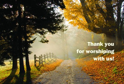Thank You for Worshiping with Us Postcard (Package of 25)  -