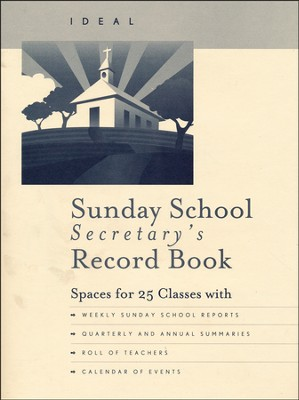 Ideal Sunday School Secretary's Record Book  -