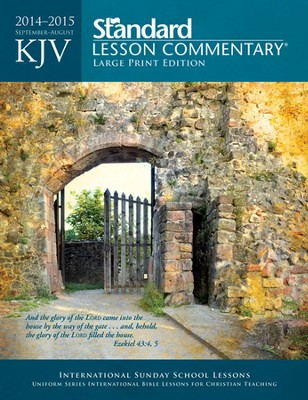 KJV Standard Lesson Commentary 2014-15, Large Print Edition                  -