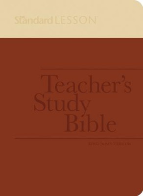 KJV Standard Lesson Teacher's Study Bible - DuoTone,  Brick/Sand       -