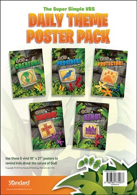 VBS 2014 Jungle Safari: Where Kids Explore the Nature of God! Daily Theme Poster Pack  -