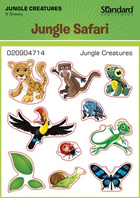 VBS 2014 Jungle Safari: Where Kids Explore the Nature of God! Jungle Creatures Stickers  -