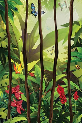VBS 2014 Jungle Safari: Where Kids Explore the Nature of God! Jungle Vines Wall Mural  -