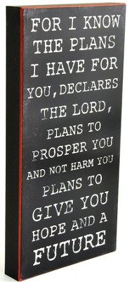 For I Know the Plans Box Sign  -
