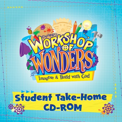 2014 VBS Workshop of Wonders: Imagine a Build with God - Student Take Home CD-ROM  -