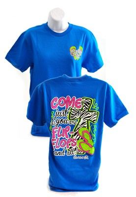 Come As You Are, Cherished Girl Style Shirt, Blue, Extra Large  -