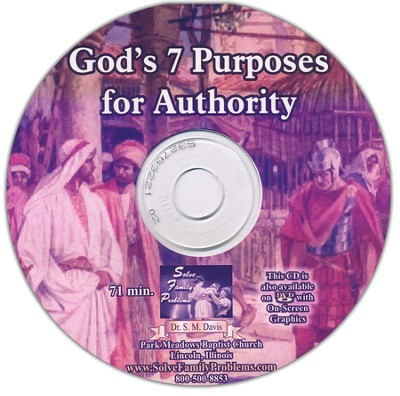 God's 7 Purposes for Authority Audio CD  -     By: Dr. S.M. Davis
