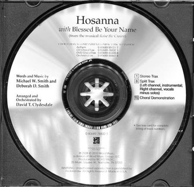 Hosanna with Blessed Be Your Name (CD ChoralTrax)   -