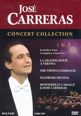 Jos&#233 Carreras Concert Collection DVD (Includes Four Concerts)  -