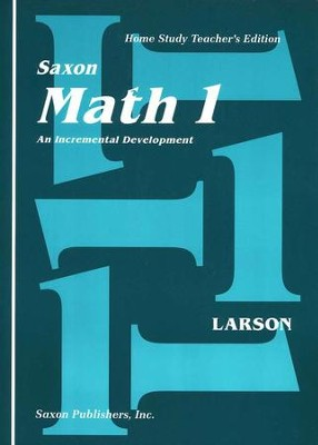 Saxon Math 1, Home Study Teacher's Edition   -