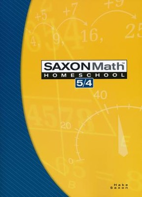 Saxon Math 5/4 Student Text, 3rd Edition   -