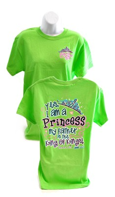 Yes, I Am a Princess, Cherished Girl Style Shirt, Green, Small  -