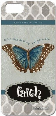 Faith, Butterfly, iPhone 5 Case  -