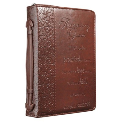 Amazing Grace Leather-Look Bible Cover, Medium   -