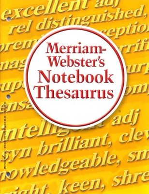 Merriam-Webster's Notebook Thesaurus   -