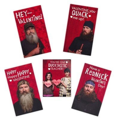 Duck Dynasty Children's Valentine Cards, Box of 32  -