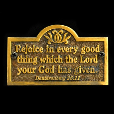 Rejoice In Every Good Thing, Door Plaque   -