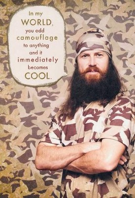 Duck Dynasty, Jase, Camo Birthday Cards, Pack of 6  -
