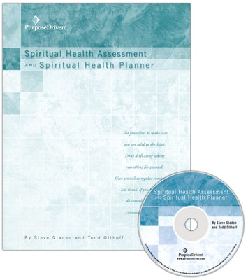 Spiritual Health Assessment & Planner w/CD  -     By: Steve Gladen