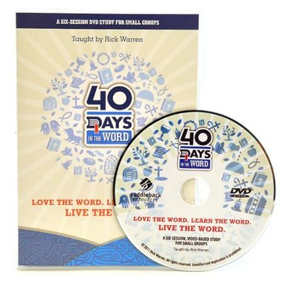 40 Days in the Word Small Group DVD   -     By: Rick Warren