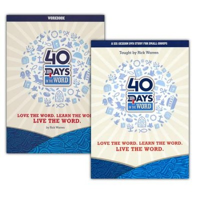 40 Days in the Word, Kit (DVD & Workbook)   -     By: Rick Warren