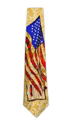 God and Country Silk Tie   -