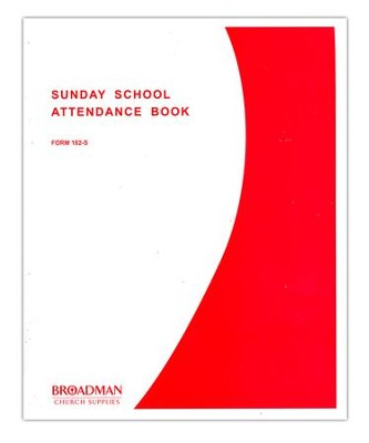 Sunday School Attendance Book, Form 182-S  -