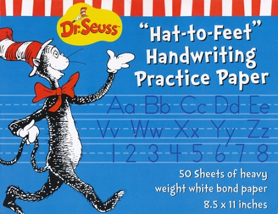 Dr. Seuss Hat-to-Feet Handwriting Practice Paper 50 Sheets   -