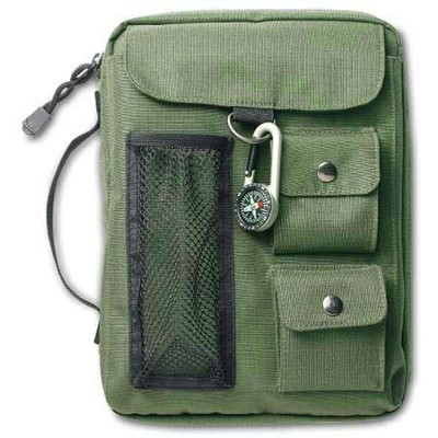 Compass Bible Cover Olive Green XL   -