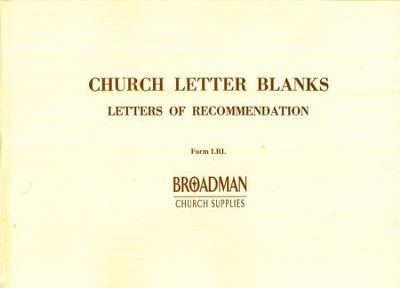 Letters of Recommendation Forms, LRL   -