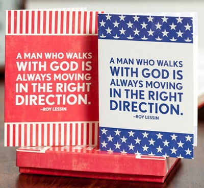 A Man Who Walks with God Notes, Box of 12  -