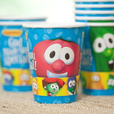 Veggie Tales Paper Cups, Package of 8  -