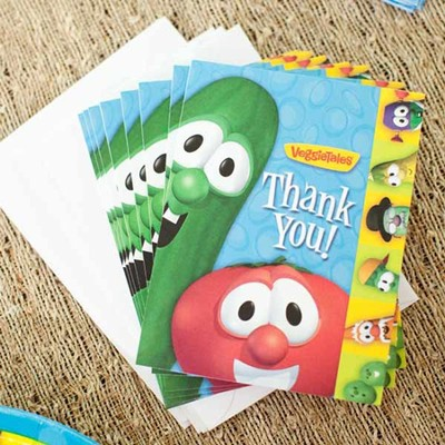 Veggie Tales Thank You Notes, Package of 8   -