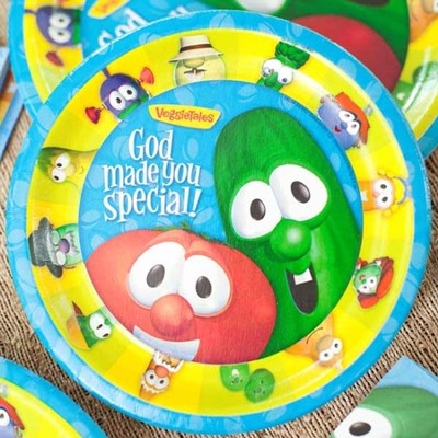 Veggie Tales Paper Dinner Plates, Package of 8  -