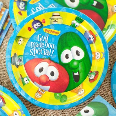 Veggie Tales Paper Dessert Plates, Package of 8  -