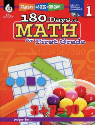 Practice, Assess, Diagnose: 180 Days of Math for First Grade  -     By: Jodene Smith