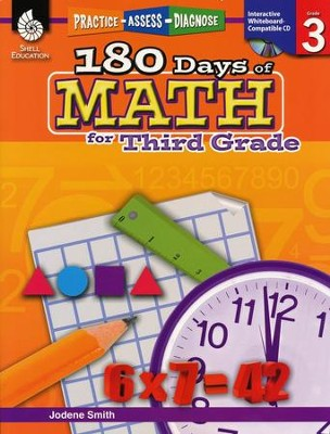 Practice, Assess, Diagnose: 180 Days of Math for Third Grade   -     By: Jodene Smith