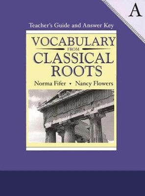 Vocabulary from Classical Roots Book A, Teacher's Guide and  Answer Key - Slightly Imperfect  -
