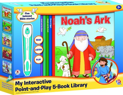 My Interactive Point-and-Play 5-Book Library: Bible Stories (boxed set)  -