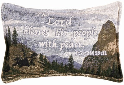 The Lord Blesses His People Pillow  -
